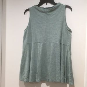 Turquoise mock neck tank top